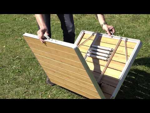 Смотреть видео Кемпинговый стол Maverick Bamboo