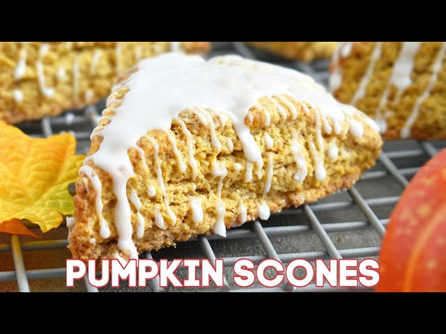 Pumpkin Scones Recipe + Video