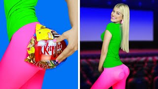 11 Funny Ways to Sneak Food into the Movies! Useful Hacks and Crazy Tricks by RATATA!