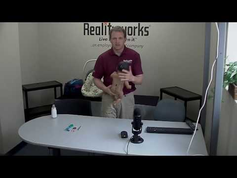 RealCare Baby Support Video - Baby Tricks | Addresses the following topics: Troubleshoot the Head (at 00:49) | Troubleshoot the Speaker (at 02:49) | Antenna Field Repair (at 05:08) | No Lights on Baby (at 09:57)