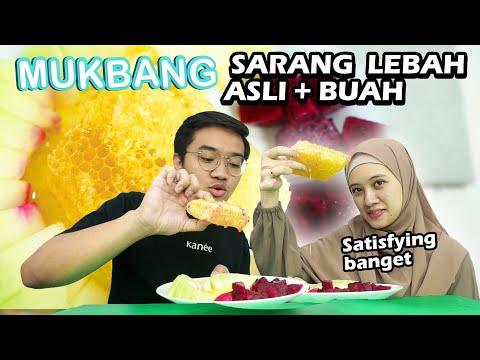 MUKBANG SARANG LEBAH (HONEYCOMB) + BUAH   Satisfying Banget!