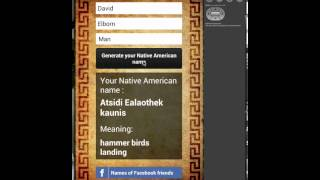 Native American Name generator Android
