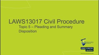 LAWS13017_05 Pleading and Summary Disposition