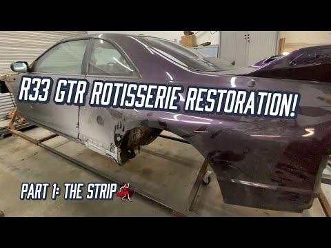 R33 GTR Rotisserie Restoration! - Part 1