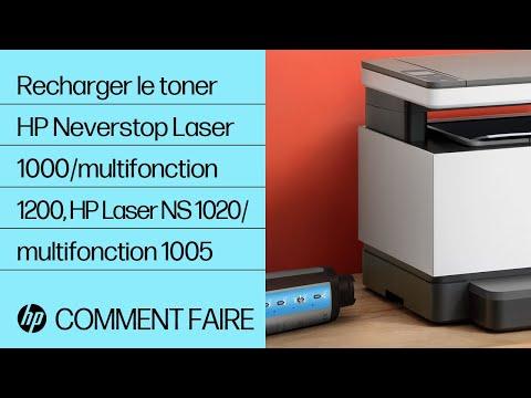 Recharger le toner à l'aide d'un kit de rechargement de toner pour les imprimantes HP Neverstop Laser 1000/multifonctions série 1200, HP Laser NS série 1020/multifonctions série 1005