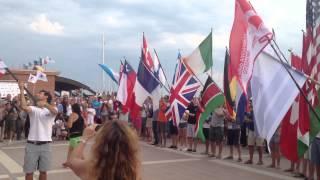 preview picture of video 'Inaugurazione Mondiali di Vela Marina di Grosseto 2013'
