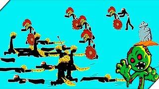 ЗОМБИ СТИКМЕНЫ НАПАДАЮТ - Игра Stick War Legacy Zombie Mode. Андроид игры для мальчиков.