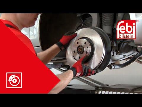 [DE] Wechsel von Bremsscheiben und Bremsbelägen an der Vorderachse - febi bilstein Technik-Video