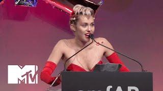 Miley Cyrus Gives Powerful Speech At AmfAR Inspiration Gala | MTV News