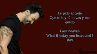 Luis Fonsi - Le Pido Al Cielo (Letra & English Translation Lyrics) [Audio]