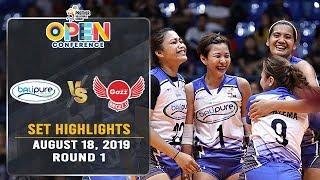 BaliPure vs. Petro Gazz | Set 1 Highlights - August 18, 2019 | #PVL2019