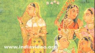 Accidental meeting of Krishna and Radha on the bank of a pool