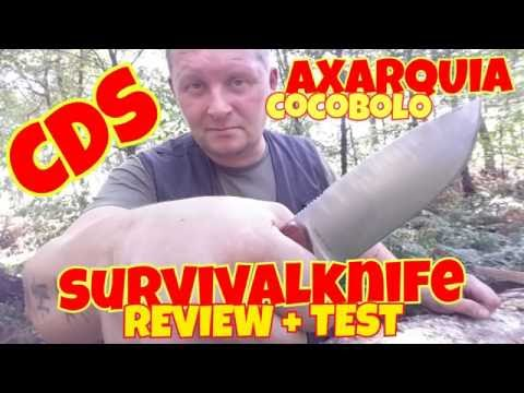 ✔CDS AXARQUIA COCO SURVIVAL KNIFE Review / Spanisches Survival Messer