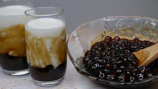 Brown Sugar Tapioca Pearl Milk From Scratch | Boba Milk