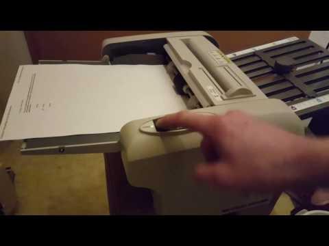 Falzmaschine/Faltmaschine Ideal 8304 - DIN A4