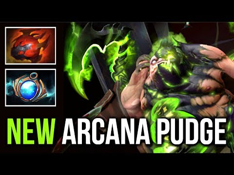 PUDGE NEW ARCANA IS HERE! Epic Pro Gameplay WTF Hook 99% Dota 2