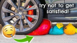 Crushing Crunchy & Soft Things by Car! - Squishy, Floral Foam, Slime, Eggs, Orbeez & More!