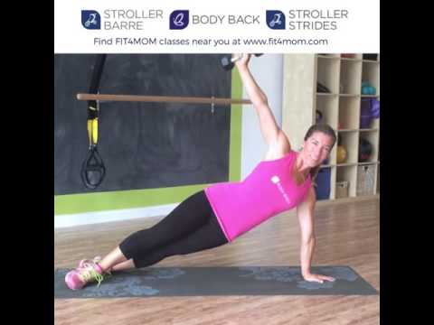 Side Plank Arm Dumbbell Arm extensions,