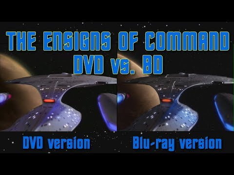 Star Trek: TNG - The Ensigns of Command - DVD vs BD comparison