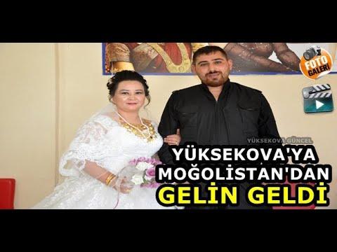 Yüksekova'ya Moğolistan'dan Gelin Geldi