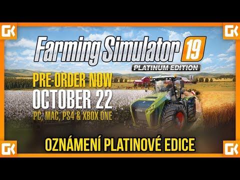 CLAAS ANEB OZNÁMENÍ PLATINOVÉ EDICE! | Farming Simulator 19