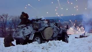 Часть 3 Соколово Украина Реконструкция боя Наступление немецких войск на Чешские и Советские позиции