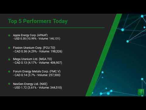 InvestorChannel's Uranium Watchlist Update for Tuesday, Se ... Thumbnail