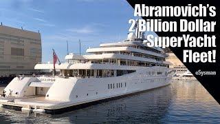 Abramovich's 2 Billion SuperYacht Fleet! - Serial Yacht Owners