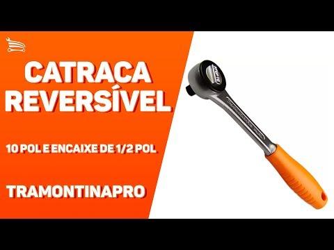 Catraca Reversível com Trava de 10 Pol e Encaixe de 1/2 Pol. - Video