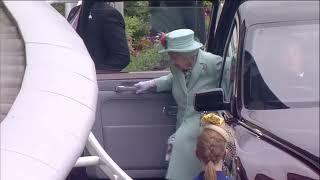 Rainha Elizabeth II chega ao meeting de Ascot