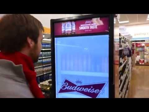 Budweiser Kühlschrank mit durchsichtiger Tür [Deutsch]