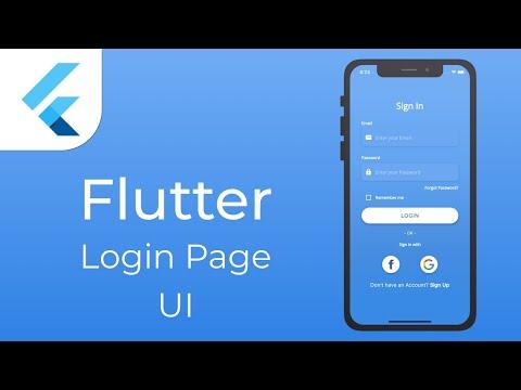 Flutter Login Page UI | Speed Code