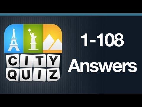 City Quiz Answers Levels 1-108 All Levels