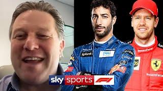 Why did McLaren sign Daniel Ricciardo over Sebastian Vettel? | Zak Brown | Sky F1 Vodcast