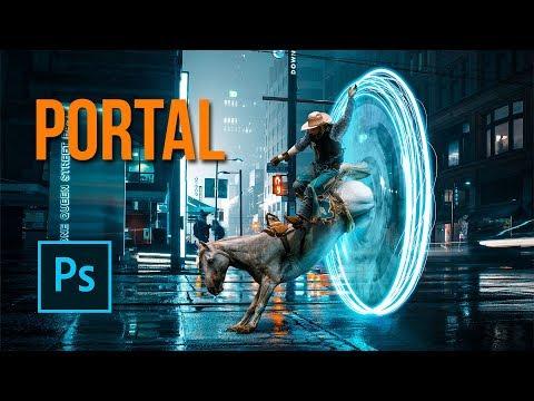escape the portal  photomanipulation tutorial by nemanja sekulic