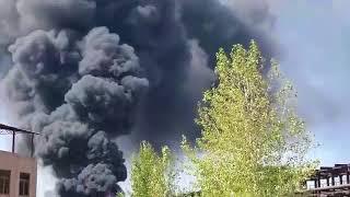"""Пожар на территории химгиганта """"Наирит"""" в Ереване усиливается"""