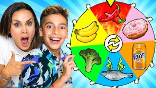 SPIN THE WHEEL & EATING Whatever COLOR FOOD it Lands on! | The Royalty Family