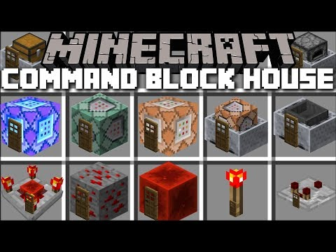Minecraft COMMAND BLOCK HOUSE MOD / SPAWN INSTANT   Youtube