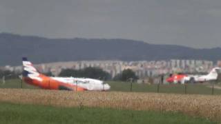 preview picture of video 'Smart Wings - landing Brno Airport LKTB'