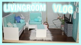 VLOG! | Making An American Girl Doll Living Room | Furniture And Decor