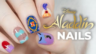 Aladdin Nails | Disney Nail Art | NailsByErin