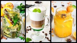 Согревающие НАПИТКИ ☆ Рецепт МЯТНОГО сиропа ☆ Чай с ИМБИРЕМ ☆ ОБЛЕПИХОЙ