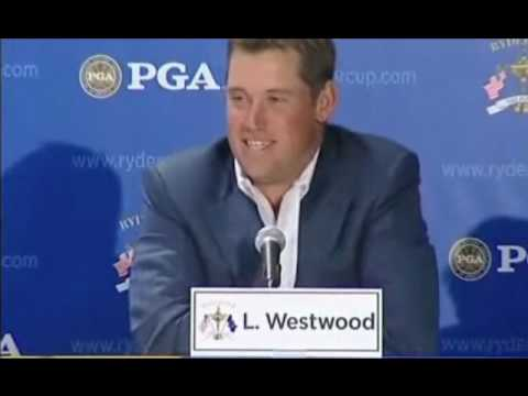 Funny Lee Westwood interview after 2008 Ryder Cup