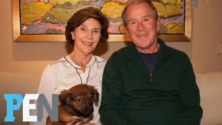 George W. Bush's New Rescue Pup Was A Set-Up (Of The Best Kind!) | PEN | TIME