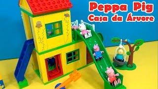 Peppa Pig LEGO CASA DA ÁRVORE NOVO ESCORREGADOR BALANÇOS E GANGORRA  EUAMOAPEPPA Ilovepeppapig ...