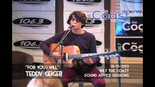 "Teddy Geiger - ""For You I Will"" at 98.7 The Coast Sound Advice Sessions"