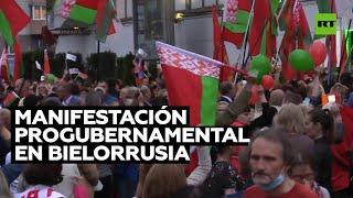 Partidarios de Lukashenko se manifiestan en Minsk