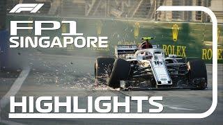 2018 Singapore Grand Prix: FP1 Highlights