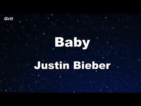 Baby ft. Ludacris - Justin Bieber Karaoke 【With Guide Melody】 Instrumental