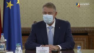 Şedinţă de evaluare şi prezentare a măsurilor privind gestionarea epidemiei COVID-19, la Palatul Cotroceni